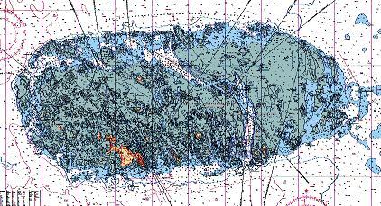 Carte marine des Iles Chausey ...