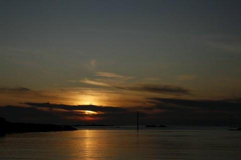 Entrée de l'aber Ildut, au coucher du soleil ...