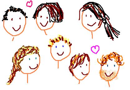 Boris et Ange, Agnès, Tristan, Steph, Carole et Damien