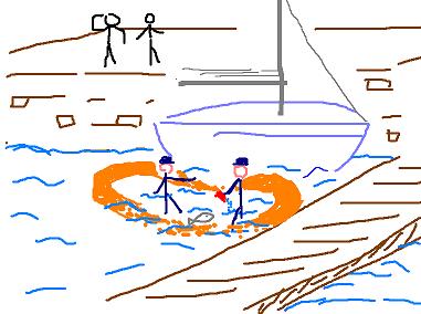 Chef, chef, ça y est, le bateau coule : j'arrête d'écoper ?