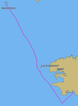 Le sillage de Schnaps de Beg Meil aux Iles Scilly